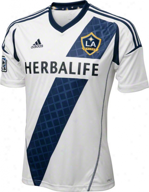 Los Angeles Galaxy White Adidas Replica Home Jersey