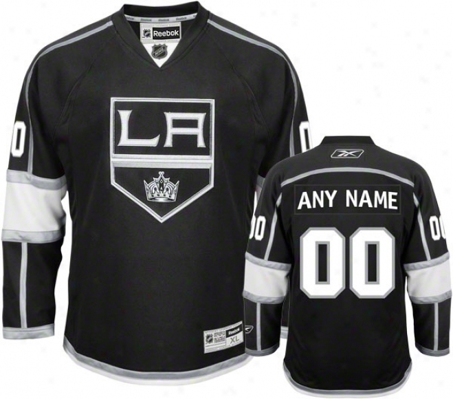 Los Angeles Kings Black Premier Jersey: Customizable Nhl Jersey