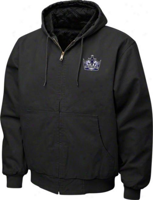 Los Angeles Kings Jacket: Black Reebok Cumberland Jacket