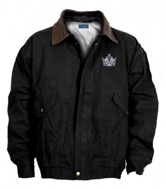 Los Angeles Kings Jacket: Black Reebok Navigator Jacket