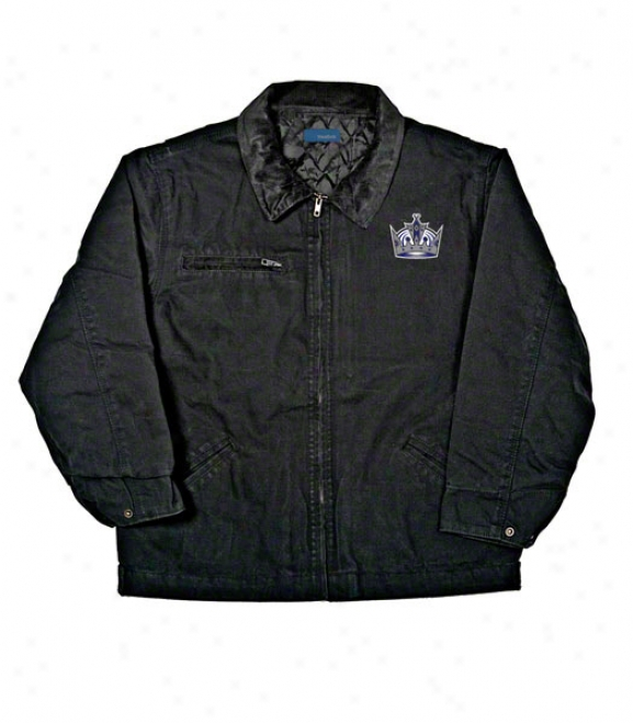 Los Angeles Kings Jacket: Black Reebok Tradesman Jerkin