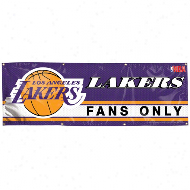 Los Angeles Lakers 2x6 Vinyl Banner