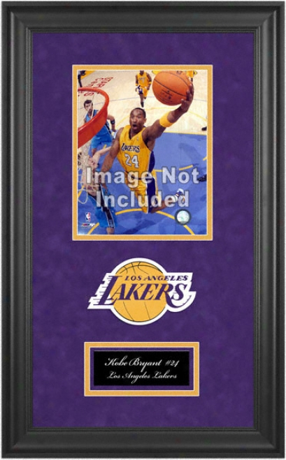 Los Angeles Lakers Deluxe 8x10 Team Logo Frame