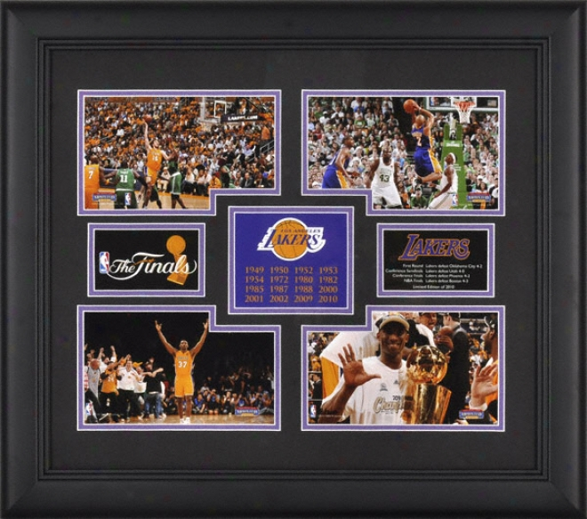 Los Angeles Lakers Framed 4-photograph Collage  Details: 2010 Nba Championshio - Limited Editon Of 2010