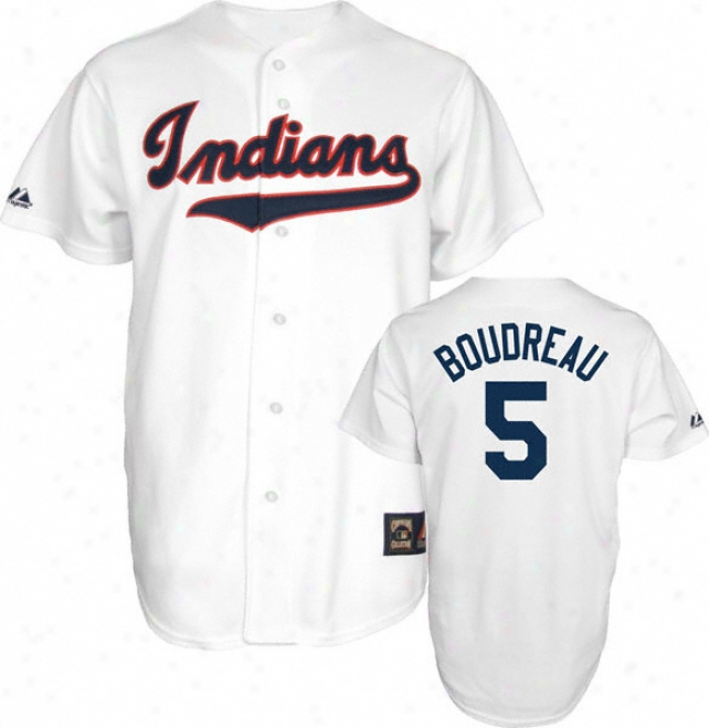Lou Boudreau Cleveland Indians Cooperstown Throwback Jersey