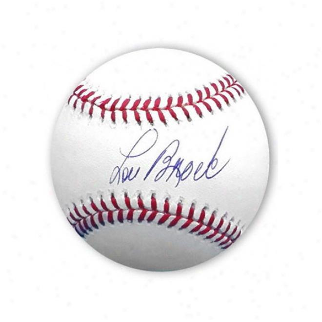 Lou Brock Autographed Baseball