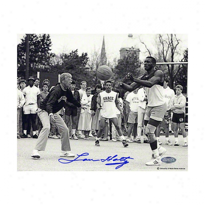 Lou Hkltz Notre Dame Fighting Irish 8x10 Autographed Phoyograph