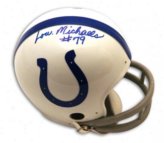 Lou Michzels Autographed Baltimorw Colts Mini Helmet