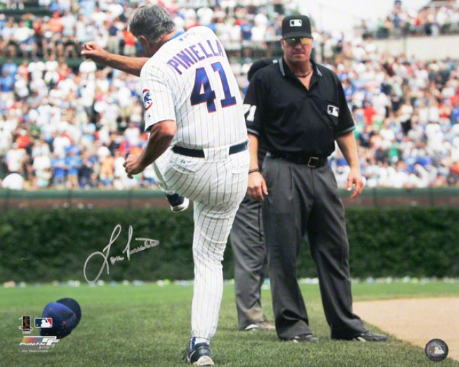 Lou Piniella Chicago Cubs Autogra;hed 16x20 Tirade Photo