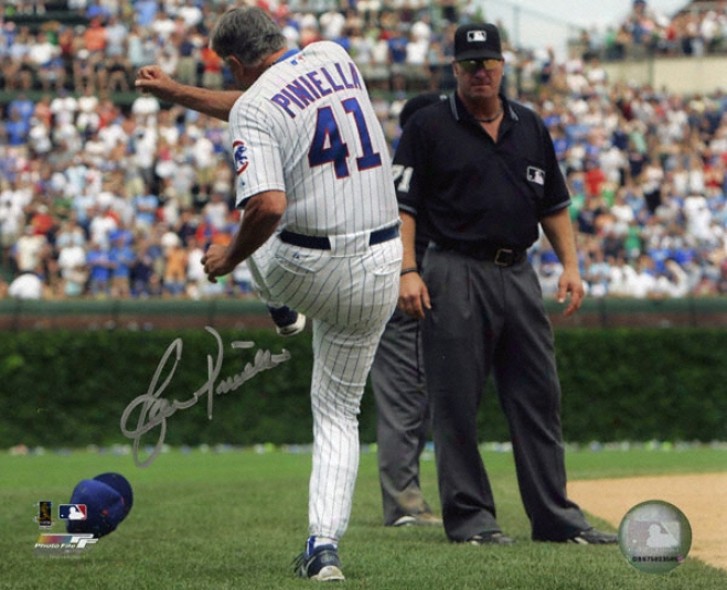 Lou Piniella Chicago Cubs Autographed 8x10 Tirade Photo