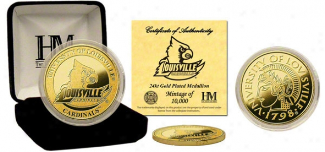 Louisville Cardinals 24kt Gold Coin