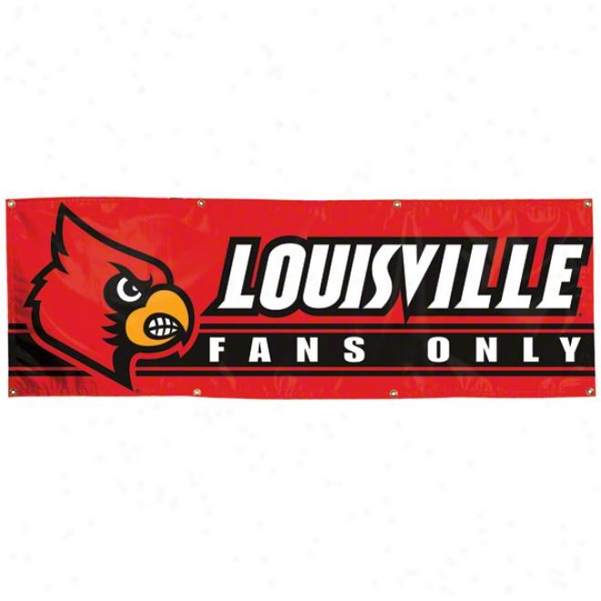 Louisville Cardinals 2x6 Vinyl Banner