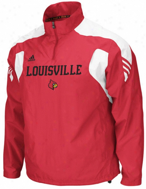 Louisville Cardinals Adidas Red Scorch Football Sideline Windshirt Jacket