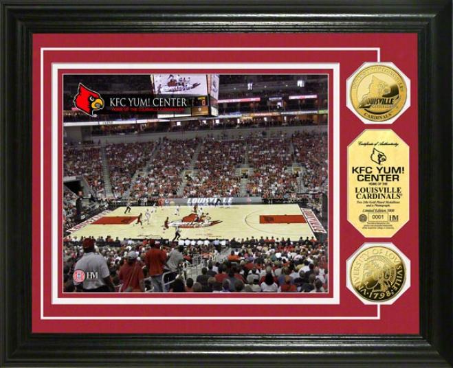Louisville Cardinals Kfc Yum! Center 24kt Gold Coin Photo Mint