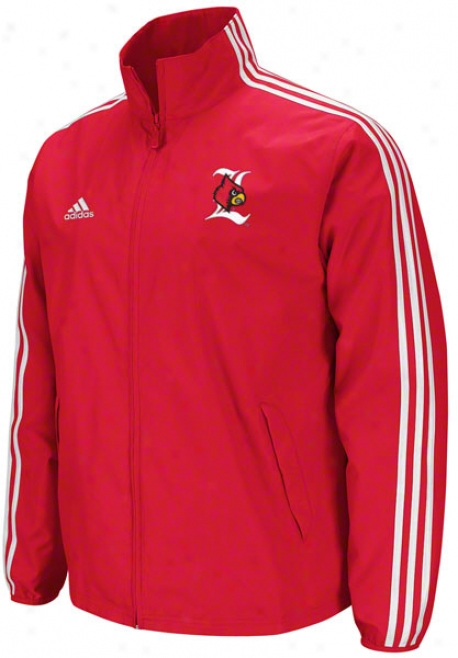 Louisville Cardinals Red Adidas Lightweight Jacket