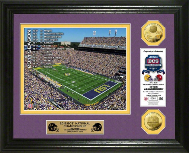 Lsu Tigers 2011 Bcs National Championship Game Gold Coin PhotoM int