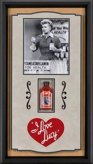Lucille Ball I Love Lucy Vitameatavegamin Framed Shadowbox