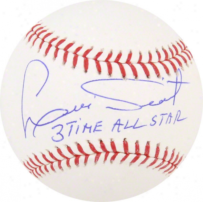 Luis Tiant Autographed Baseball  Details: Boston Red Sox, With &quot3 Time All Star&quot Inscription