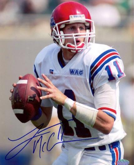 Luke Mccown Louisiana Tech Bulldogs 8x10 Autographed Photograph