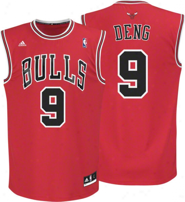 Luol Deng Jersey: Adidas Revolution 30 Red Replica #9 Chicago Bulls Jersey