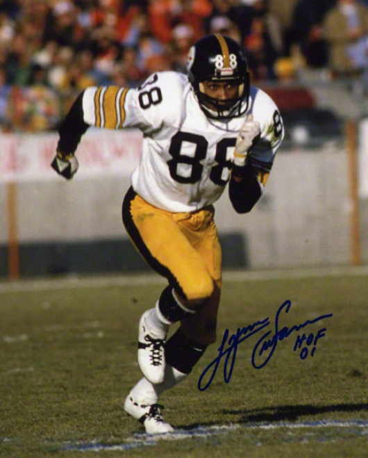Lynn Swann Autographed 8x10 Photograph  Details: Pittsburgh Steelers, With &quothof 10&quot Inscription