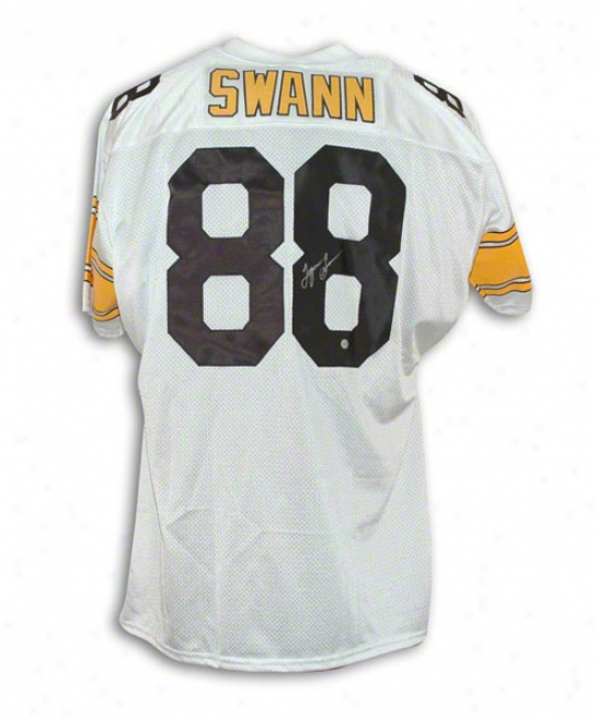 Lynn Swann Pittsburgh Steelers Autographed White Throwback Jersey