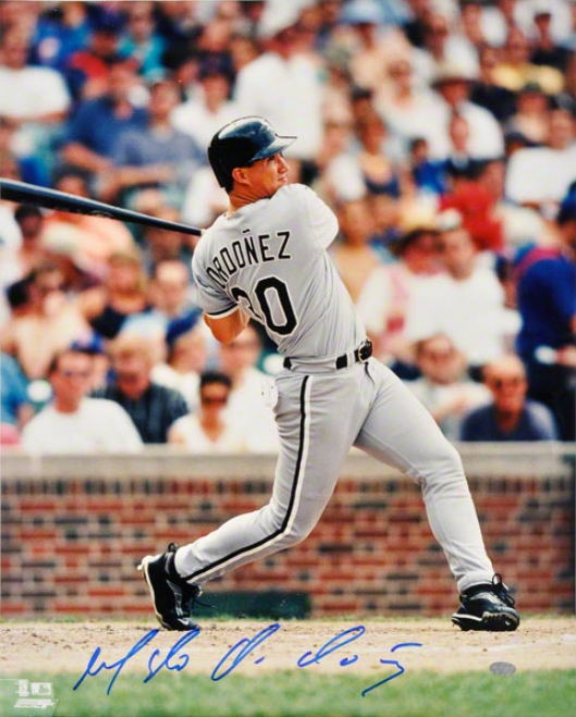 Magglio Ordonez Autographed Photo  Details: Chicago White Sox 16x20 Photo