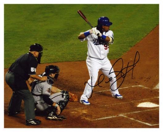 Manny Ramirez Los Angeles Dodgers - Batting - Autographed 8x10 Photograph