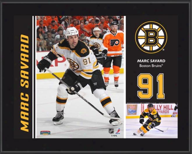 Marc Savard Plaque  Details: Boston Bruins, Sublimated, 10x13, Nhl Plwque