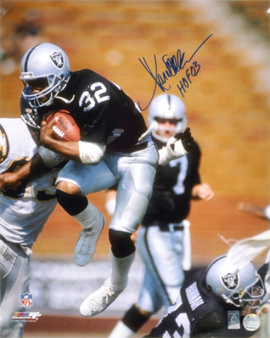 Marcus Allen Autographed Photograph  Particulars: Oakland Raiders,16x20, Hof 03 Inscription