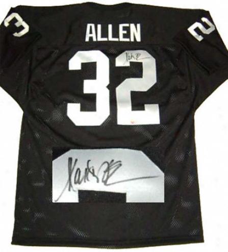 Marcus Allen Oakland Raiders Autographed Black Jersey