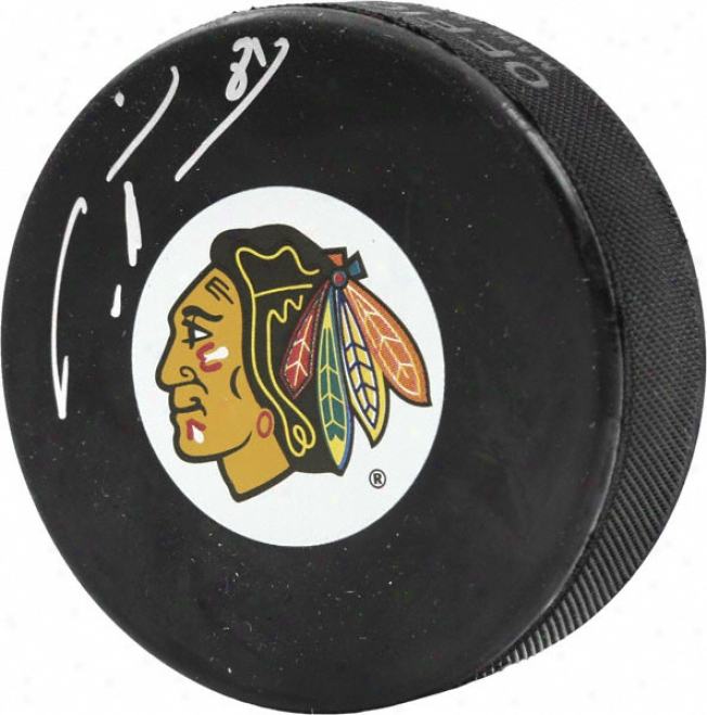Marian Hossa Autographed Puck