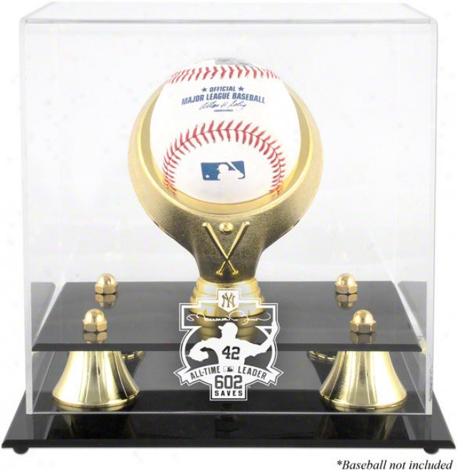 Mariano Rivera 602 All-time Savrs Chief Golden Calssic Logo Baseball Display Case