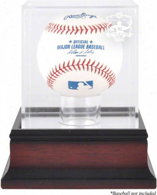 Mariano Rivera 602 All-time Saves Superior Mahogany Logo Baseball Parade Case