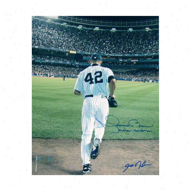 Mariano Rivera Autographed Photograph  Details: New York Yankees, Enter Sandman Inscription, Color Photo, 8x10