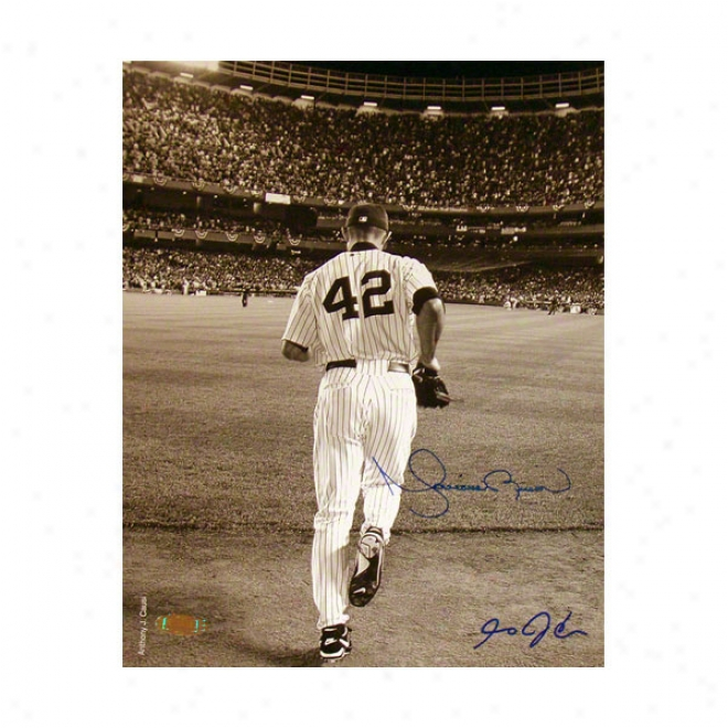 Mariano Rivera Autographed Phootgraph  Details: New York Yankees, Sepia Photo, 8x10