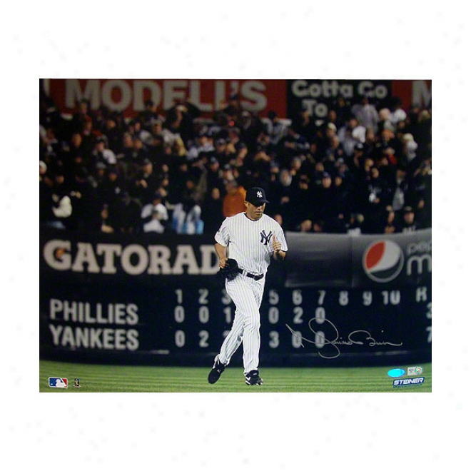 Mariano Rivera Unaccustomed York Yankees 16x20 Autographed 2009 World Series Game Photograph