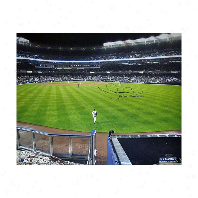 Mariano Rivera New York Yankees 16x20 Autographed Entering The Quarry Photograph