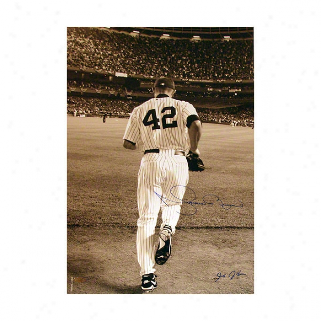 Mariano Rivera New York Yankees 16x24 Autographed Photograph 2006 Entering The Game- Sepia