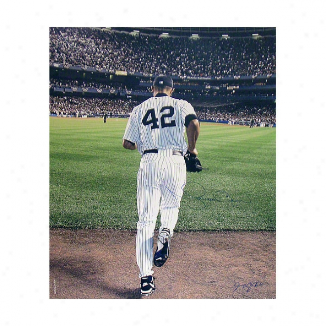 Mariano Rivera New York Yankees 20x24 Autographed 2006 Entering The Game Color Photograph