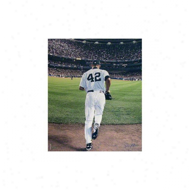 Mariano Rivera New York Yankees 20x24 Autographed Last To Wear #42 Color Photograph