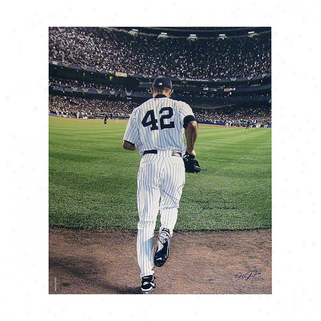 Mariano Rivera New York Yankees 20x24 Autographed With Enter Sandman Color Photograph