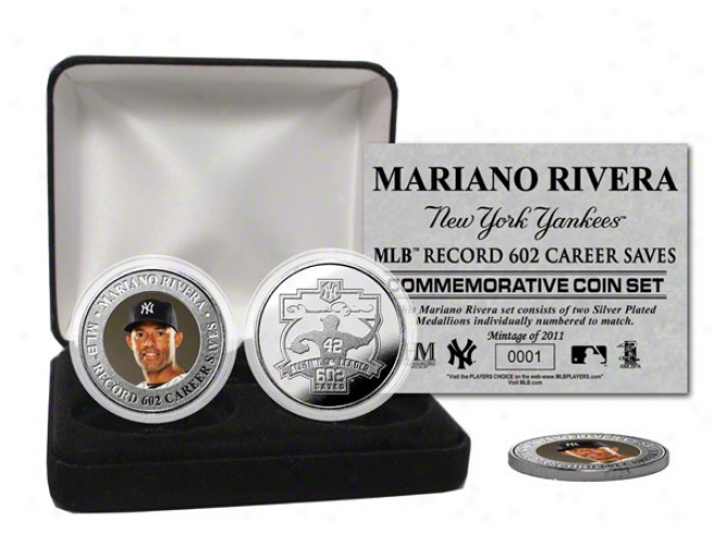 Mariano Rivera New York Yankees All-time Saves Record Silver Coin Set