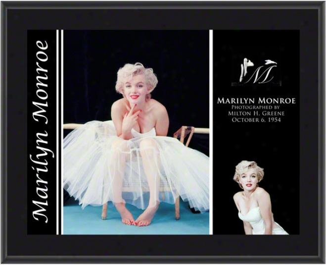 Marilyn Monroe - Ballerina - Sublimated 10x13 Plaque