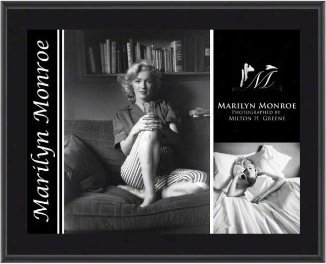 Marilyn Monroe - Couch/bed - Sublijated 10x13 Plaque