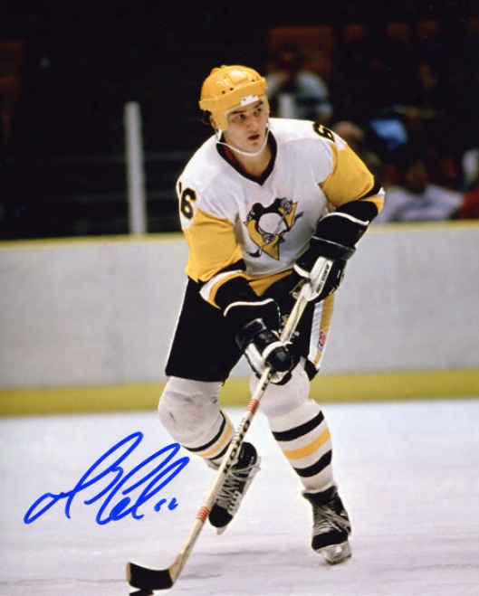Mario Lemieux Autographed Photograph: Signed Pittsburgh Penguins 8x10 Photograph