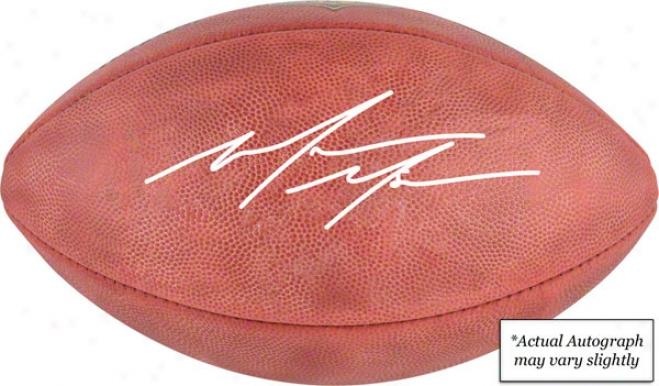 Mario Manningham Autographed Football