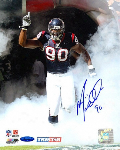 Mario Williams Autographed Photograph: Houston Texas 8x10 Photograph - Tunnel Entrance