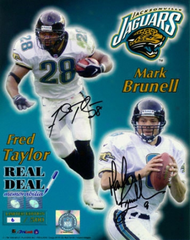 Mark Brunell And Fred Taylor Jacksonville Jaguars 16x20 Autographed Photograph