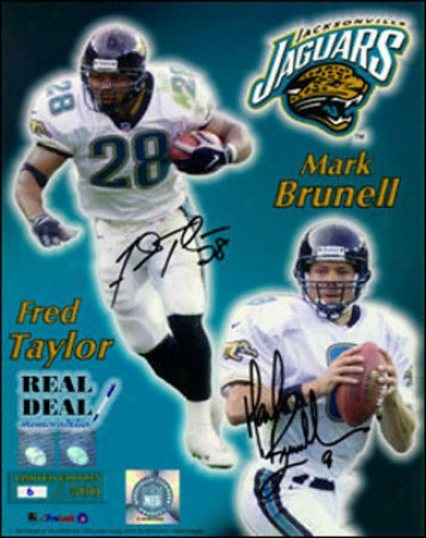 Ma5k Brunell And Fred Taylor Jacksonville Jaguars 8x10 Autographed Photograph
